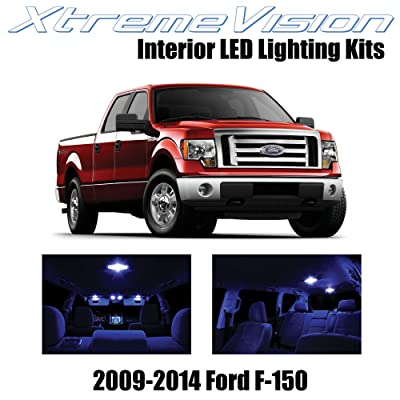 Xtremevision Interior LED for Ford F-150 2009-2014 (12 Pieces) Blue Interior LED Kit + Installation Tool: Automotive