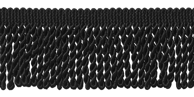 10 Yard Value Pack of BLACK 2.5 Inch Bullion Fringe Trim, Style# EF25 Color: K9 (30 Ft / 9 Meters) DecoPro
