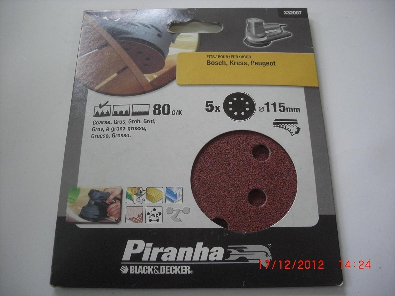 Set of 5 Piranha 80 g ROS Disc Velcro