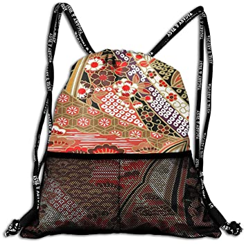 220c657e3107 Amazon.com   String Bag Drawsring Backpack Multi Color Chinese Red ...
