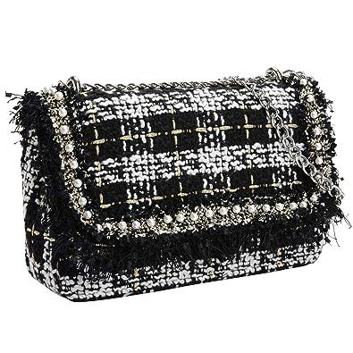3747cb5c622a PACO TORA Crossbody Bags for Women PU Leather Shoulder Bag Tweed Crossbody  Bag Crossbody Bags Handbags