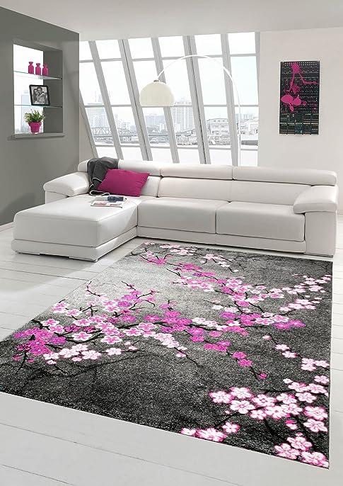 tapis gris et blanc et rose. Black Bedroom Furniture Sets. Home Design Ideas