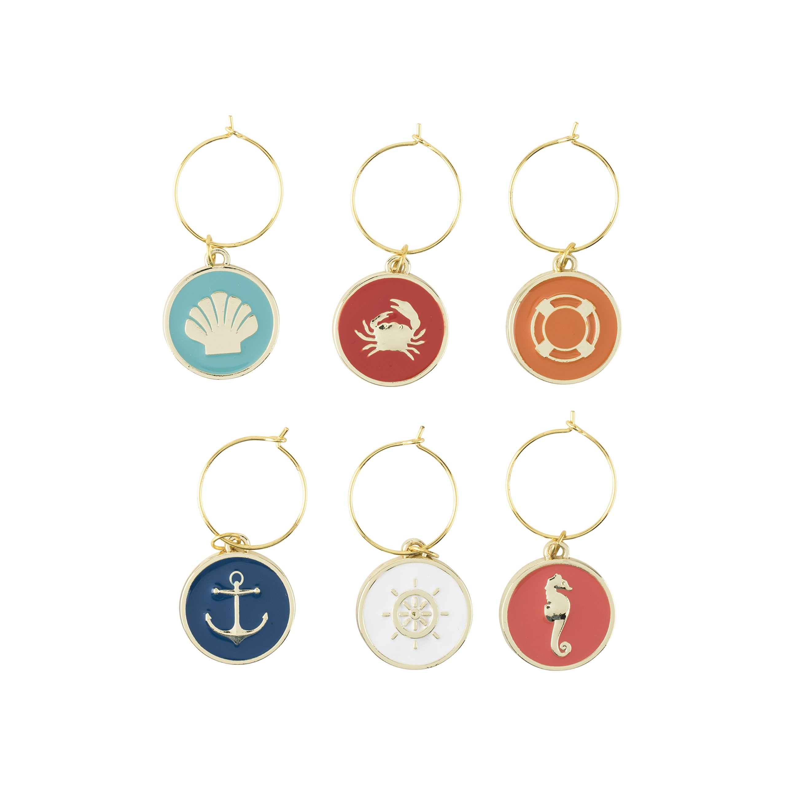 Blush 2085 Seashore Wine Charms, Multi Color by TRUE