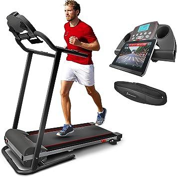 31a299f62ef3b Sportstech F10 Tapis de Course Pliable, Pilotage par Application  Smartphone, autolubrification, Bluetooth,