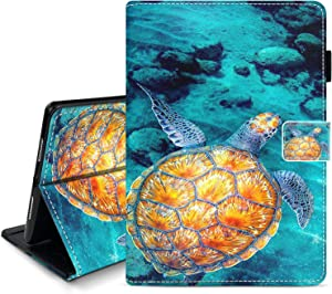 Hynina Case for iPad 9.7 5th / 6th Generation 2018/2017 Ultra-Thin Leather Smart Protective Cover with Pencil Holder for iPad 9.7 5th / 6th Generation 2018/2017-Turtle