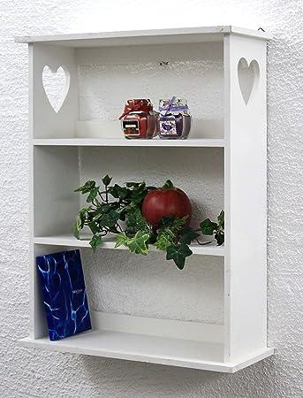 Dandibo Wandregal Mit Herz 12013 Regal 50 Cm Vintage Shabby Landhaus