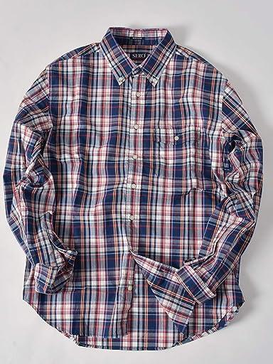 Madras Buttondown Shirt 121-17-0025: Navy