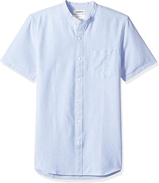 camel active Hemd blue Button Down Knopf Meliert Kurzarm 100