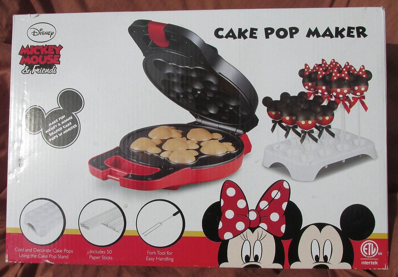 New Shop Disney Mickey Minnie Mouse & Friends Shaped Cake Pop Maker Set-Appliance-NEW-NIB