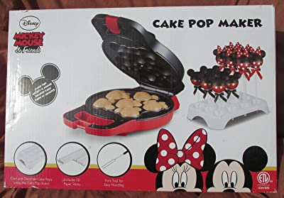New Shop Disney Mickey Minnie Mouse & Friends Shaped Cake Pop Maker Set-Appliance-NEW-NIB