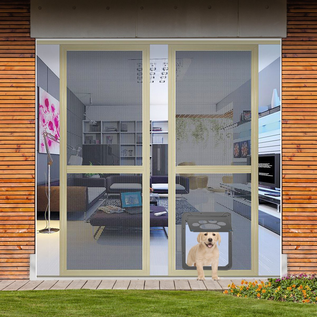Dog Door For Sliding Door Wrcibo Dog Screen Door Auto Pet Door