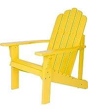 Shine Company Marina Adirondack Chair, Lemon Yellow