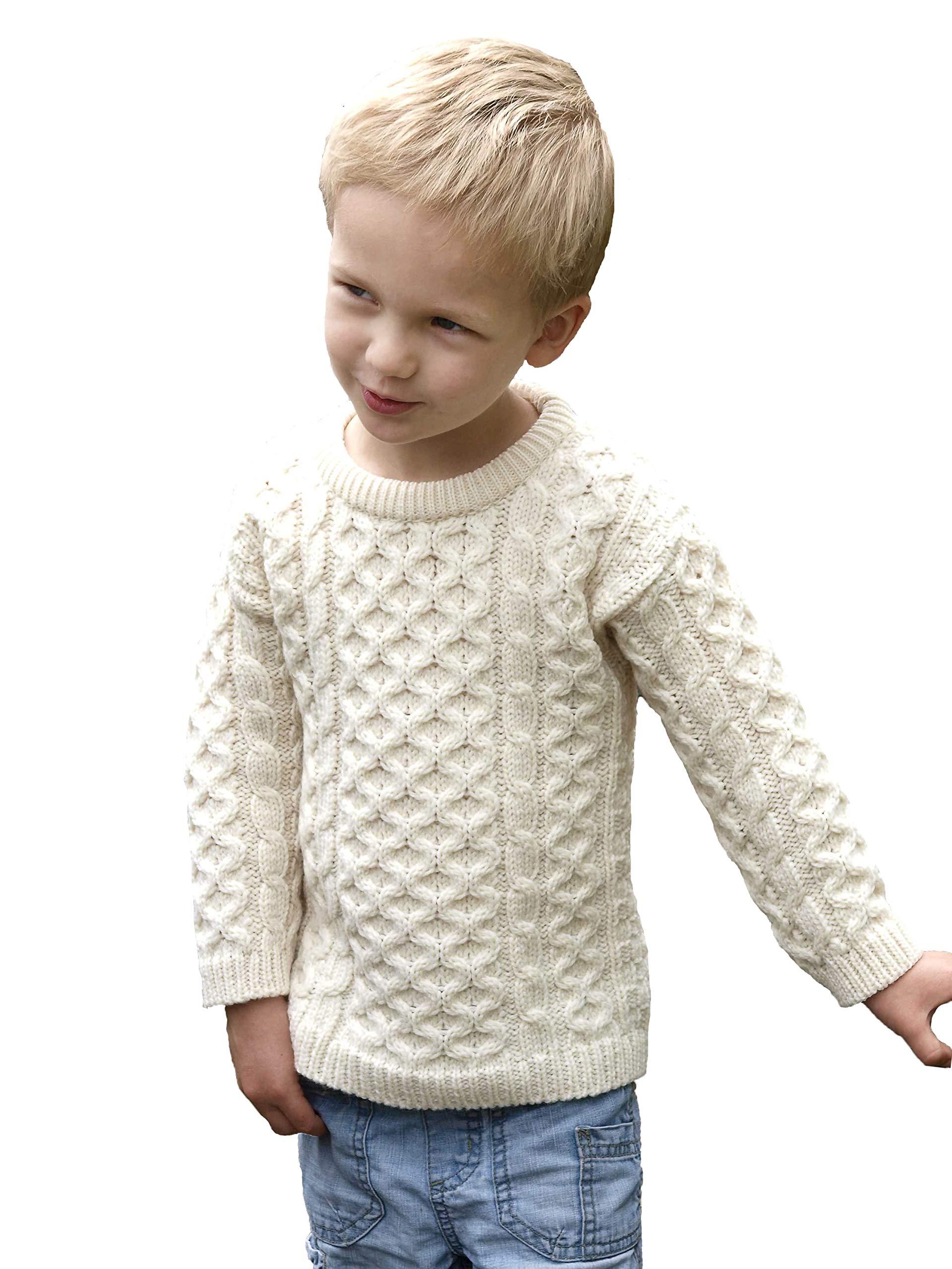 Aran Crafts Child Crew Neck Sweater 8/11 Natural (C311k-8/11-NAT)