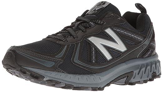 New Balance Men's Cushioning 410v5 Running Shoe Trail-Runners, Black/Thunder,  11
