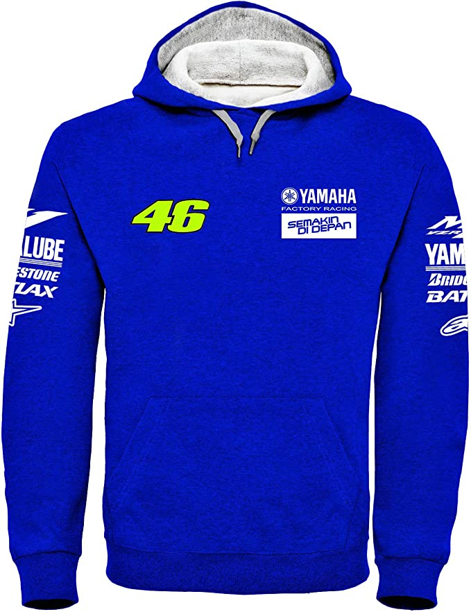 Valentino Rossi VR46 Moto GP M1 Yamaha Factory Racing Team Capucha Oficial 2018