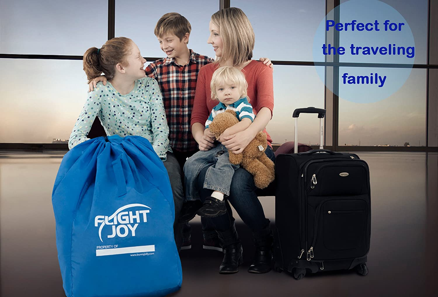 Ultra Durable Carseat Airplane Bag with Padded Shoulder Straps Must Have for Child CarSeats and Booster Car Seats Best Car Seat Travel Bag for Airport Gate Check
