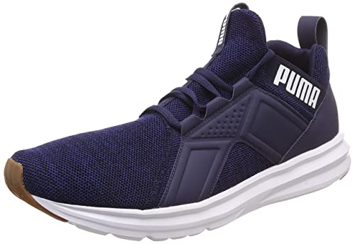 7fd67d9cbc9c Puma Men s Enzo Knit NM Peacoat Navy-White Running Shoes-10 (4060978809414