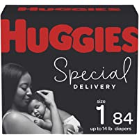 Diapers Size 1 - Huggies Special delivery Hypoallergenic Disposable Baby Diapers, 84ct, Giga Pack 84 count