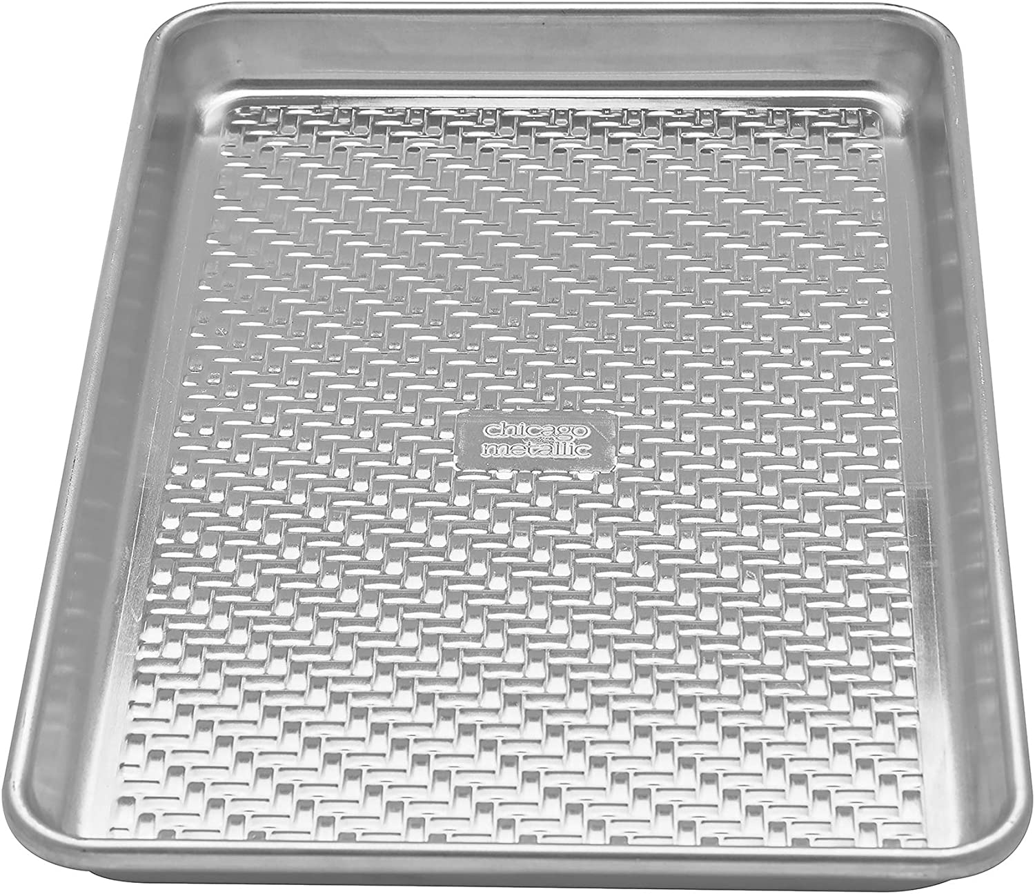 Chicago Metallic Uncoated Textured Aluminum Small Cookie/Baking Sheet, 9-Inch-by-13-Inch, Silver