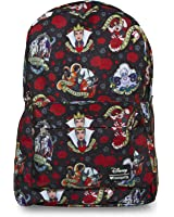 Loungefly Disney Villains Roses And Hearts All-Over Print Backpack