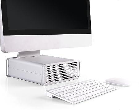 RICOO Ständer für iMac Stand MTS-03 AiO Aufsatz Erhöhung Ergonomisch Kühlung Höhenverstellbar / 21