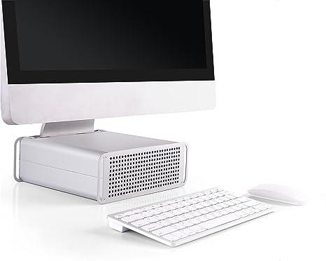 RICOO Soporte para Ordenador Apple iMac PC portátil MTS-03 Mesa 4K OLED Pantalla Plana