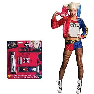 1056c751e5e9 Amazon.com  Suicide Squad  Harley Quinn Adult Costume Bundle Set - Small   Clothing