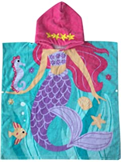kids hooded beach towels. Mermaid Hooded Towel For 1-6 Years Kid And Toddler Girls Children With Hood Kids Beach Towels