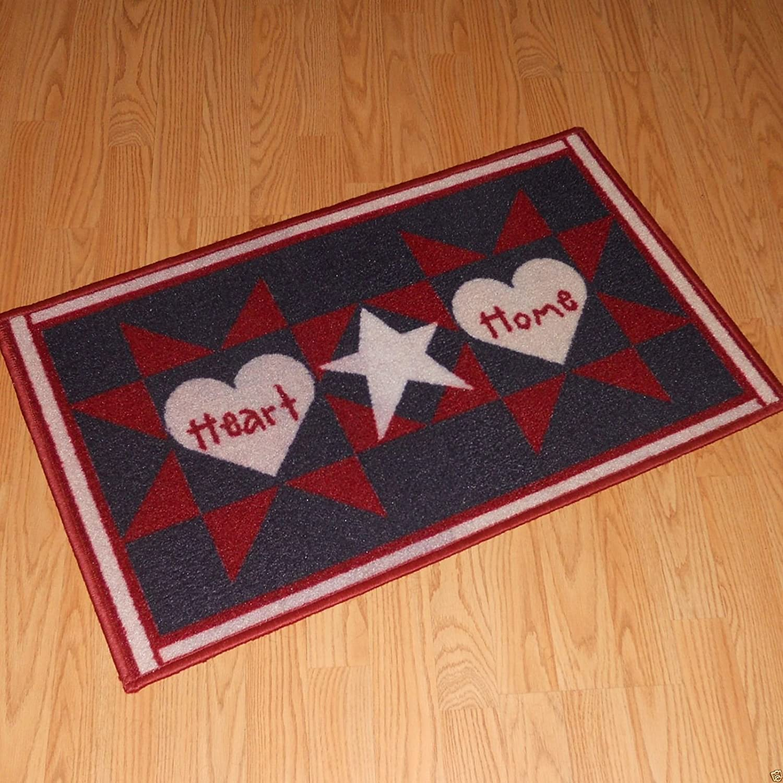 Amazoncom americana home decor - Amazon Com Americana Hearts Stars Home Patriotic Bath Rug Home Kitchen