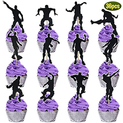Amazon Com 36 Fortnite Party Cupcake Toppers Perfect
