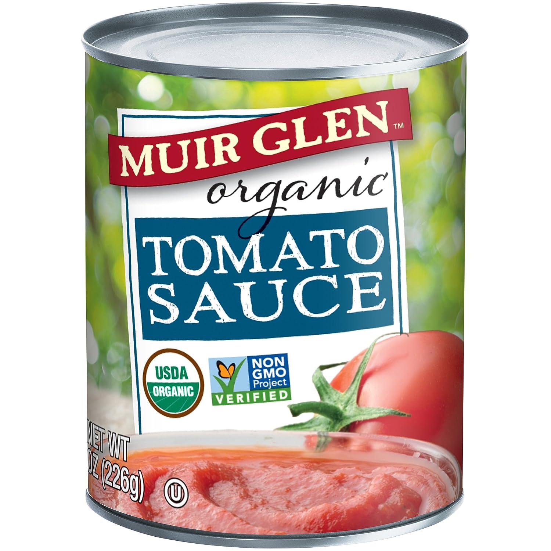 Amazon.com : Muir Glen Organic Tomato Sauce, No Sugar Added, 8 Ounce ...