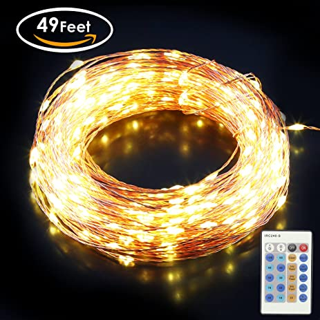 Amazon.com : Aglaia LED String Lights, 150 LED 49Ft Copper Wire ...