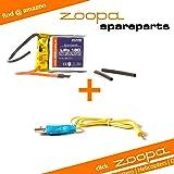 ACME - zoopa 150 Helikopter Ersatzteil-Set | USB Ladekabel + Austausch-Akku (AA0150-A)