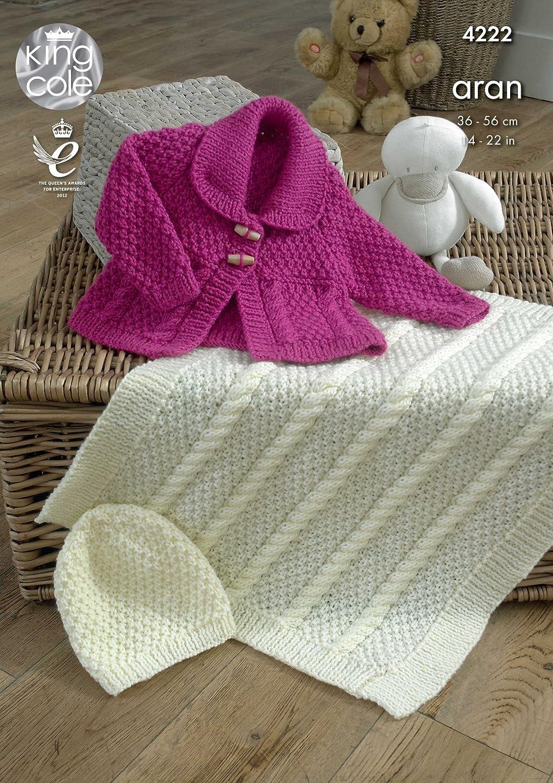 King cole 4222 knitting pattern baby jacket blanket and hat to king cole 4222 knitting pattern baby jacket blanket and hat to knit in king cole comfort aran amazon kitchen home bankloansurffo Choice Image