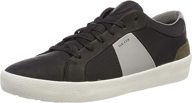 Geox U Warley B Sneakers Herren Schwarz/Grau