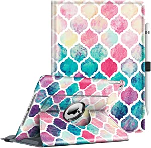 Fintie Case for iPad 9.7 2018 2017 / iPad Air 2 / iPad Air - 360 Degree Rotating Stand Protective Cover with Auto Sleep Wake for iPad 9.7 inch (6th Gen, 5th Gen) / iPad Air 2 / iPad Air, Moroccan Love