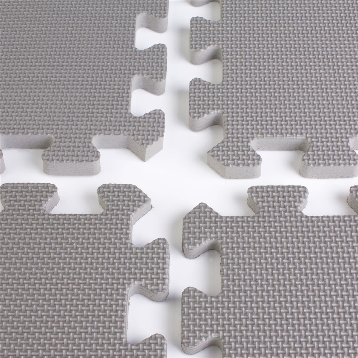 Displays2go Portable Floor For Tradeshows, 10 x 10 Feet Charcoal Grey Foam Mat, 2 x 2 Feet Interlocking Pieces (TSFM10GY)