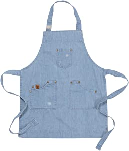 Ayesha Curry Chef & Hostess Kid Apron | Denim | Perfect for Your Kitchen, Garden, The Art Room or Anywhere You Interact with Your Toddlers