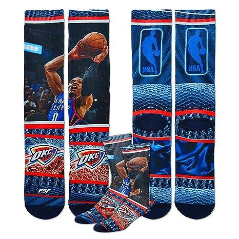 99f5265783fac6 Bare Feet Oklahoma City Thunder Youth Size NBA Hardplay Calzini Bambini (4  – 8 Anni