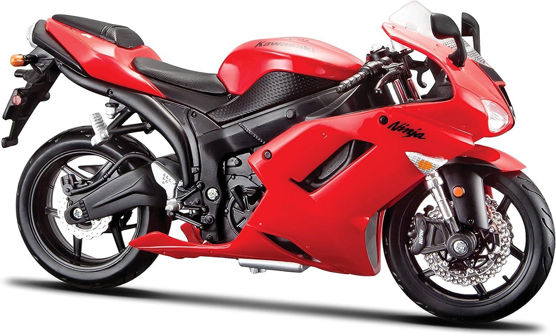 Kawasaki Ninja ZX-6R rot Maßstab 1:12 Motorrad Modell von maisto
