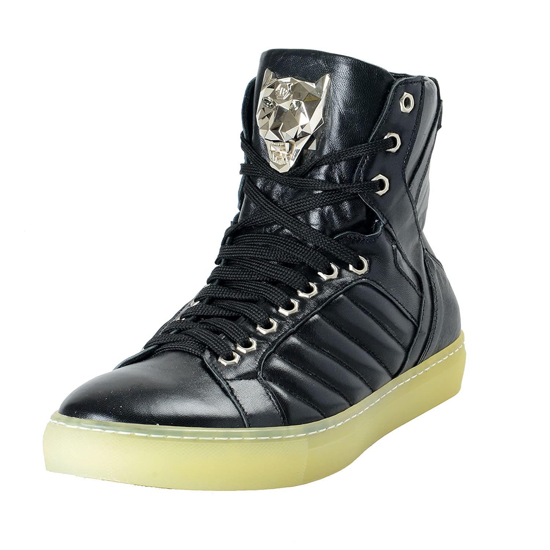 Philipp Plein メンズ 革のハイトップファッションスニーカーの靴 B07BVK1WTZ