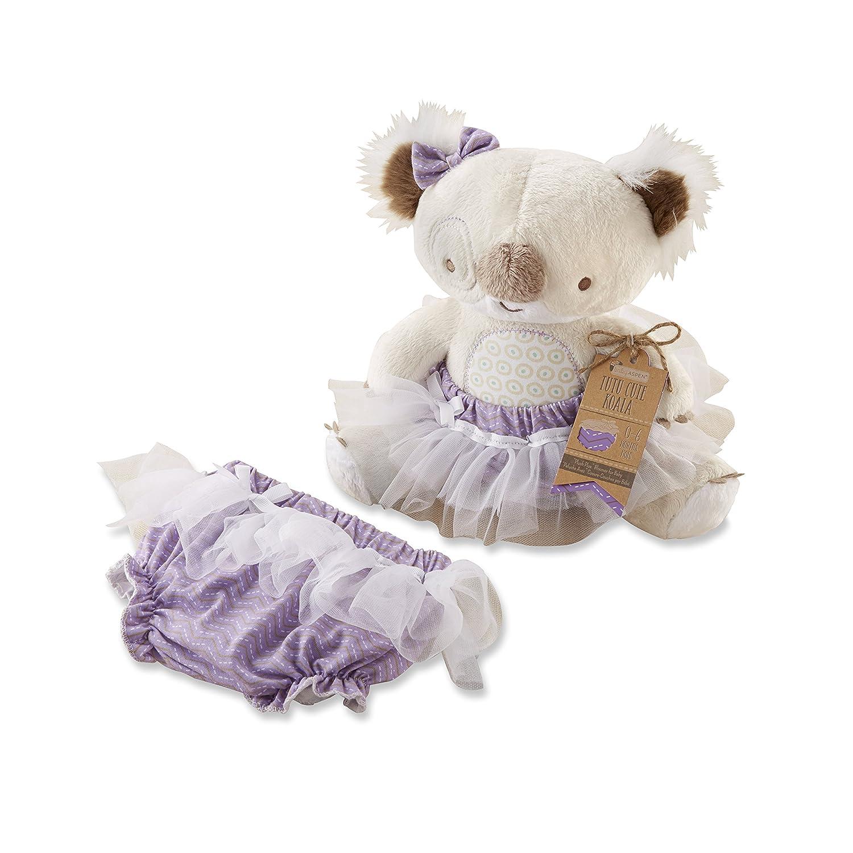 Baby Aspen Tutu Cute Koala Plush Plus Bloomer for Baby, Beige Multi, 06 Months