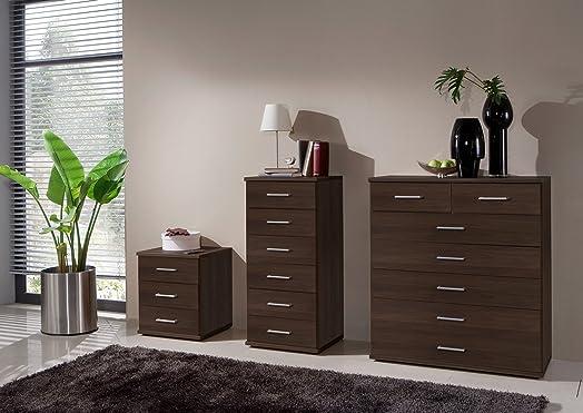 German Imago Berlin Walnut Bedroom Furniture 3 Drawer Bedside Cabinet Chest  Of Drawers