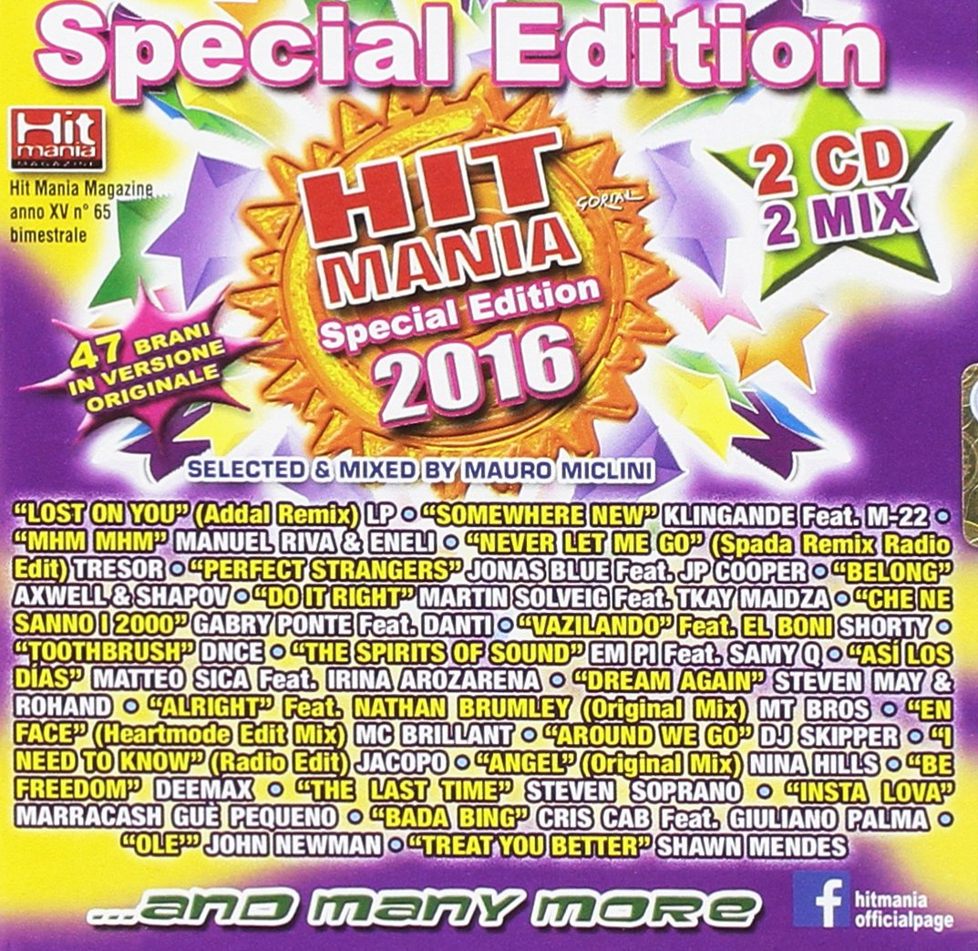 Hit Mania Special Edition 2016 Our shop OFFers the Tucson Mall best service Various