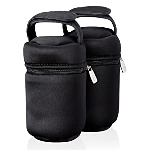 Tommee Tippee Insulated Bottle Bag and Bottle Cooler - Keeps Cold or Warm Bottles - 2 Count
