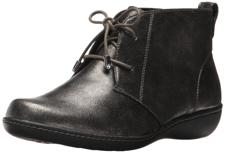 Soft Style Women's Jinger Ankle Bootie B01N9UUDMH 8 W US|Gunmetal Metallic