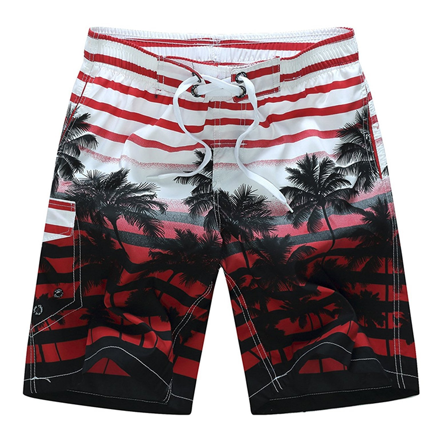 cool nik Mens Swimming Trunks Quick-Dry Sport Beach Shorts with Mesh Lining
