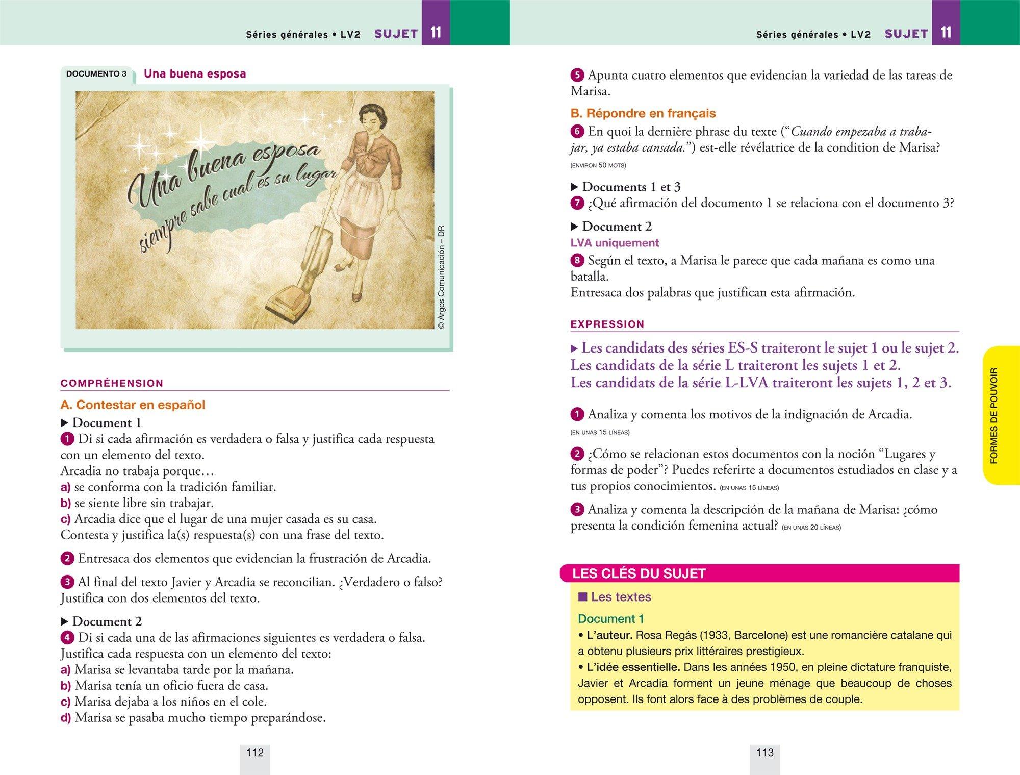 Annales Annabac 2018 Espagnol Tle LV1 et LV2: sujets et corrigés du bac Terminale toutes séries: 9782401030442: Amazon.com: Books