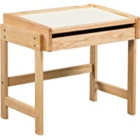 ECR4Kids Doodle Dry-Erase Schoolhouse Desk – Dry-Erase Table Top with Pull-Out Storage Drawer for Kids, Natural Finish