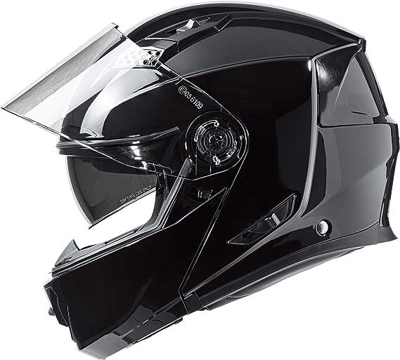 Nexo Klapphelm Motorradhelm Helm Motorrad Mopedhelm Basic Ii Thermoplasthelm Mit Sonnenblende Klares Kratzfestes Visier 1 550 G Mehrfache Be Und Entlüftung Ratschenverschluss Schwarz Xs Xl Bekleidung